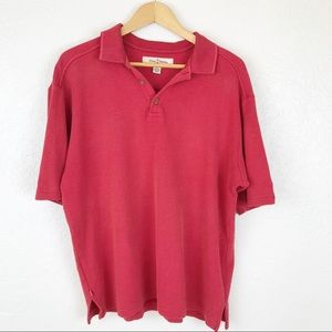 Tommy Bahama Red woven polo